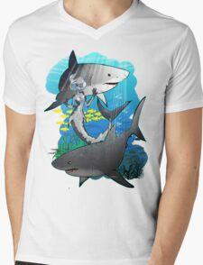 GreatWhites Mens V-Neck T-Shirt