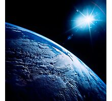Shining star over Earth. Photographic Print