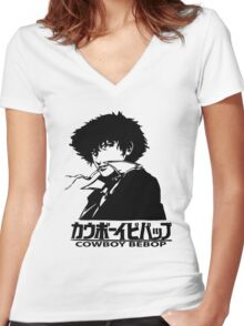 Cowboy Bebop Women's Fitted V-Neck T-Shirt