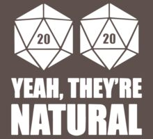 D20 Yeah They're Natural One Piece - Short Sleeve