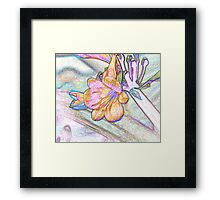 Abstract Beautiful Orchid In Pastel Colors Take 2 Framed Print