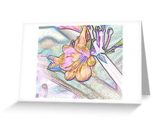 Abstract Beautiful Orchid In Pastel Colors Take 2 Greeting Card