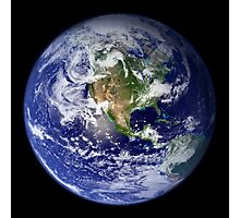 Earth showing the western hemisphere. Photographic Print