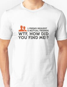How the hell did you find me ?! T-Shirt