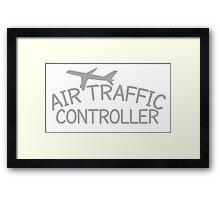 Air traffic controller Framed Print
