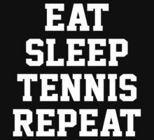 Eat Sleep Tennis Repeat One Piece - Short Sleeve