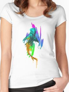Watercolor Shark Women's Fitted Scoop T-Shirt