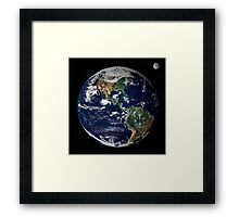 Full Earth showing North and South America. Framed Print