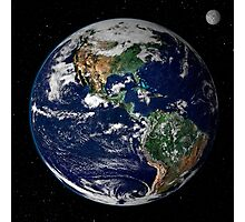 Full Earth showing North and South America. Photographic Print