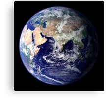 View of the Earth from space showing the eastern hemisphere. Canvas Print