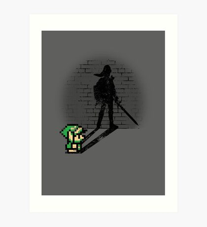 Becoming a Legend - Link Art Print