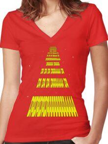 Phonetic Star Wars Women's Fitted V-Neck T-Shirt