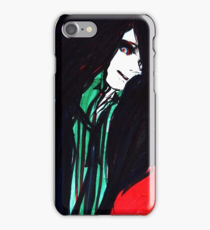 red ink iPhone Case/Skin
