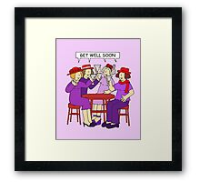 Red Hatter Ladies Get Well Soon Framed Print