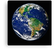 Full Earth showing the western hemisphere. Canvas Print