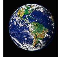 Full Earth showing the western hemisphere. Photographic Print