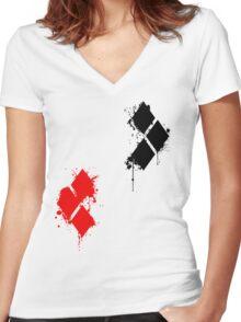 HarleyQuinn Women's Fitted V-Neck T-Shirt