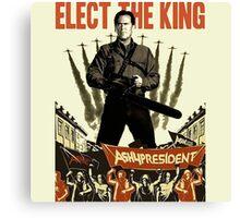 elect the king ash vs evil dead  Canvas Print