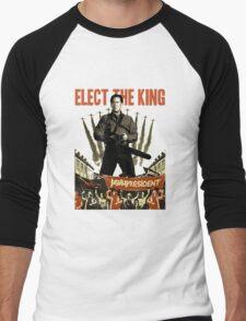 elect the king ash vs evil dead  Men's Baseball ¾ T-Shirt