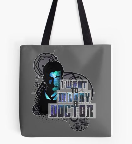 Marry a Doctor Tennant Tote Bag