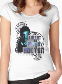 Marry a Doctor Tennant Women's Fitted Scoop T-Shirt