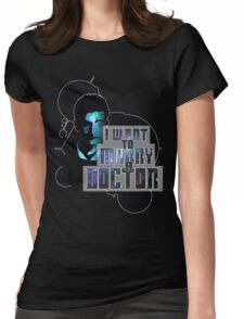 Marry a Doctor Tennant Womens Fitted T-Shirt