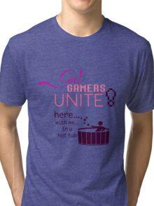 Girl Gamers Unite! Tri-blend T-Shirt