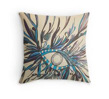 Mesmerized In Blue Throw Pillow