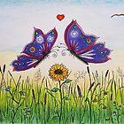 Wooing Butterflies Love Drawing by Mala-Tichan