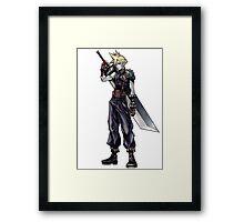 Cloud Strife Final Fantasy VII/Super Smash Bros Framed Print