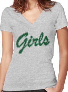 FRIENDS GIRLS SWEATSHIRT(green) Women's Fitted V-Neck T-Shirt