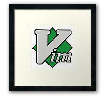 Vim logo Framed Print