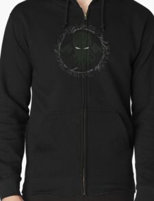In his house at R'lyeh dead Cthulhu waits dreaming Zipped Hoodie