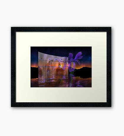 Waves from a flowers breath take no limits to their depth  Framed Print