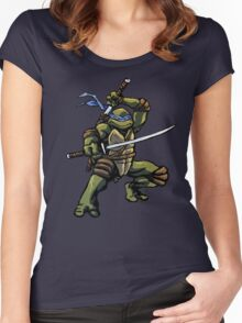 Turtle Power LEO Women's Fitted Scoop T-Shirt
