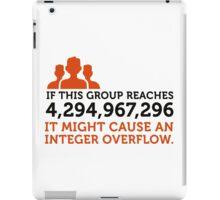 Group Integer Overflow iPad Case/Skin