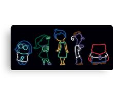 Inside Out Neon Canvas Print