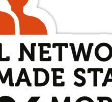 Social Networks make stalking easier! Sticker
