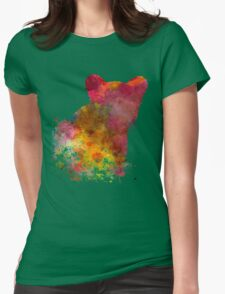 Female Lion 02 in watercolor Womens Fitted T-Shirt