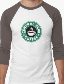 Central Perk Coffee Men's Baseball ¾ T-Shirt