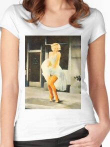 Marilyn Monroe by Frank Falcon Women's Fitted Scoop T-Shirt