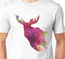 Moose 05 in watercolor Unisex T-Shirt