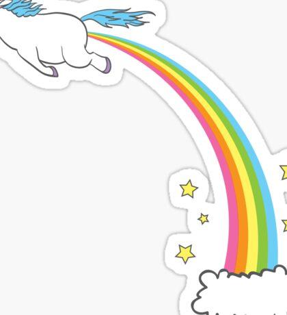 Unicorn Rainbow Fart Pastel Sticker