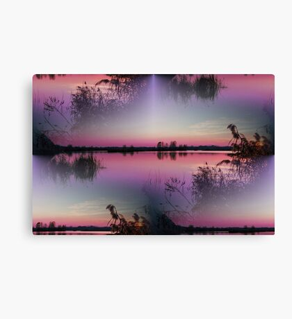 landscape lake at sunset Canvas Print