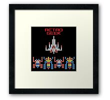 Retro Geek - Galaga Framed Print