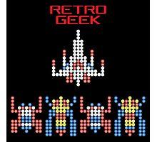 Retro Geek - Galaga Photographic Print