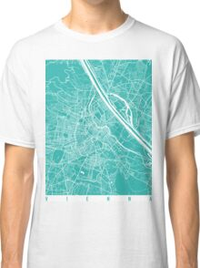 Vienna map turquoise Classic T-Shirt
