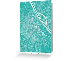 Vienna map turquoise Greeting Card