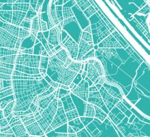 Vienna map turquoise Sticker
