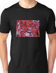 Red on Black - Big Original Wall Modern Abstract Art Painting Unisex T-Shirt